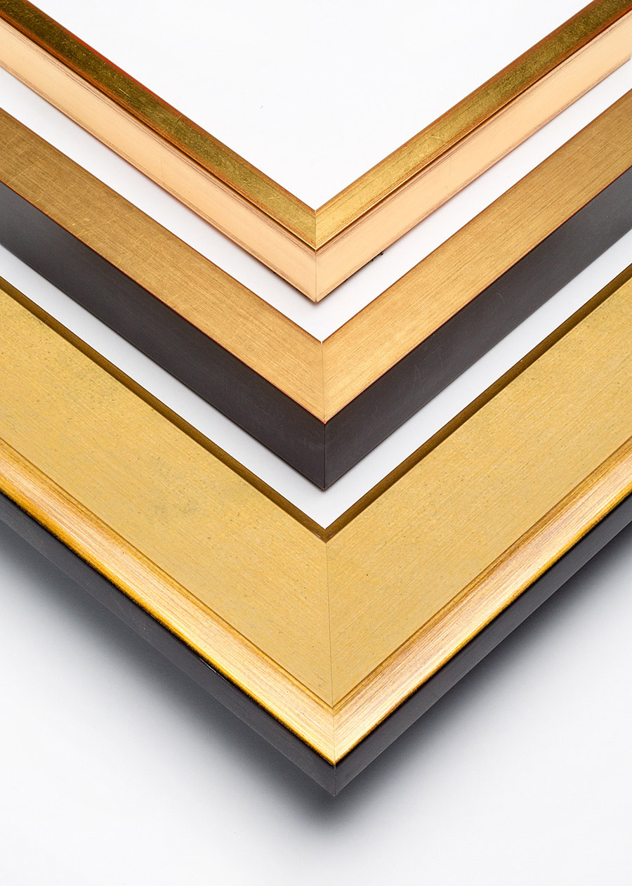 Contemporary gold  picture frames