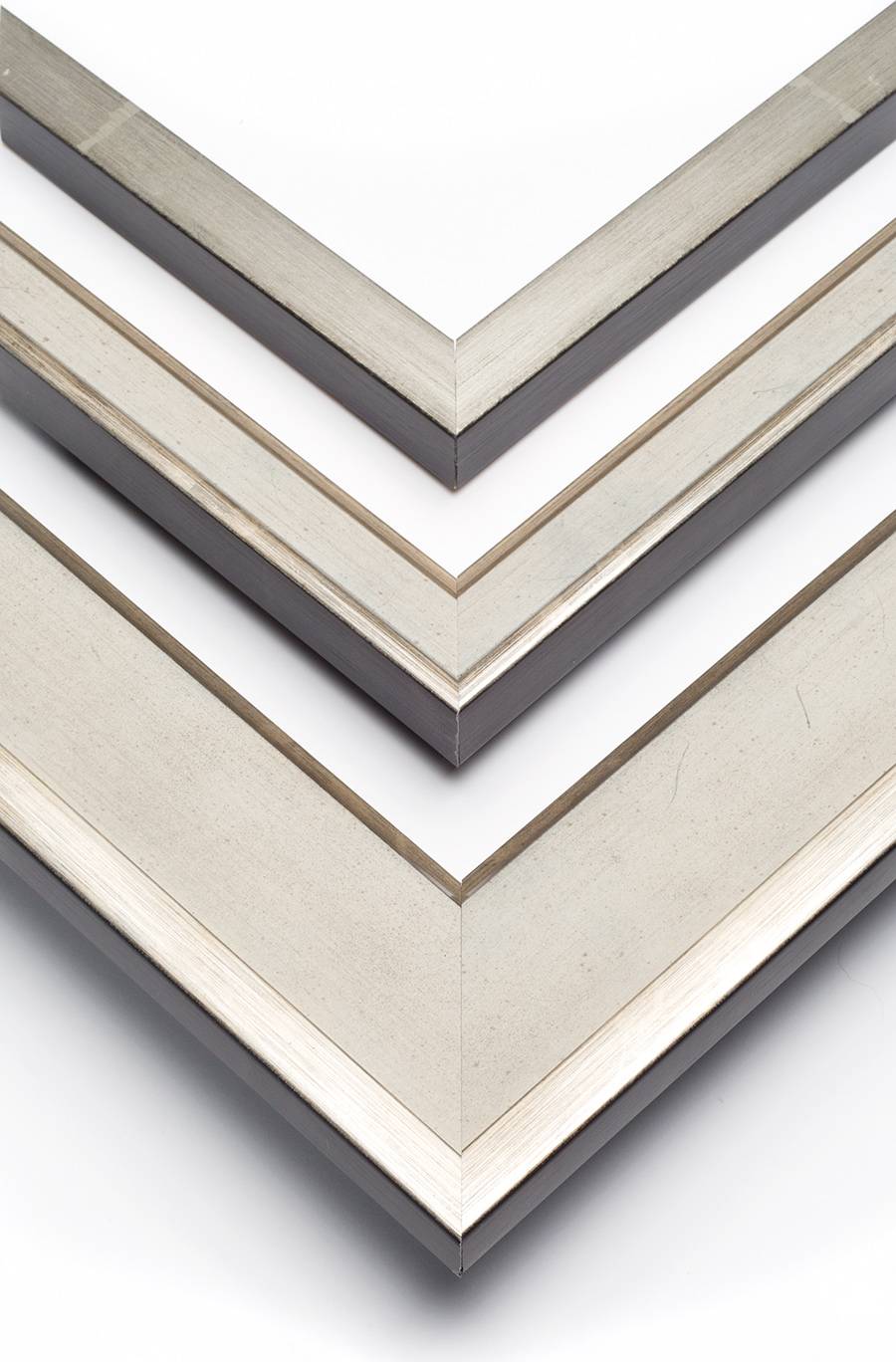 contemporary silver art frames